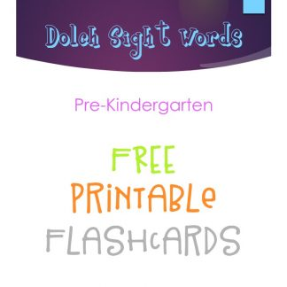 Dolch Sight Words Flashcards – Pre-Kindergarten