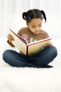 early reading - little girl reading