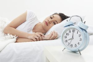 Woman fast asleep - brain health