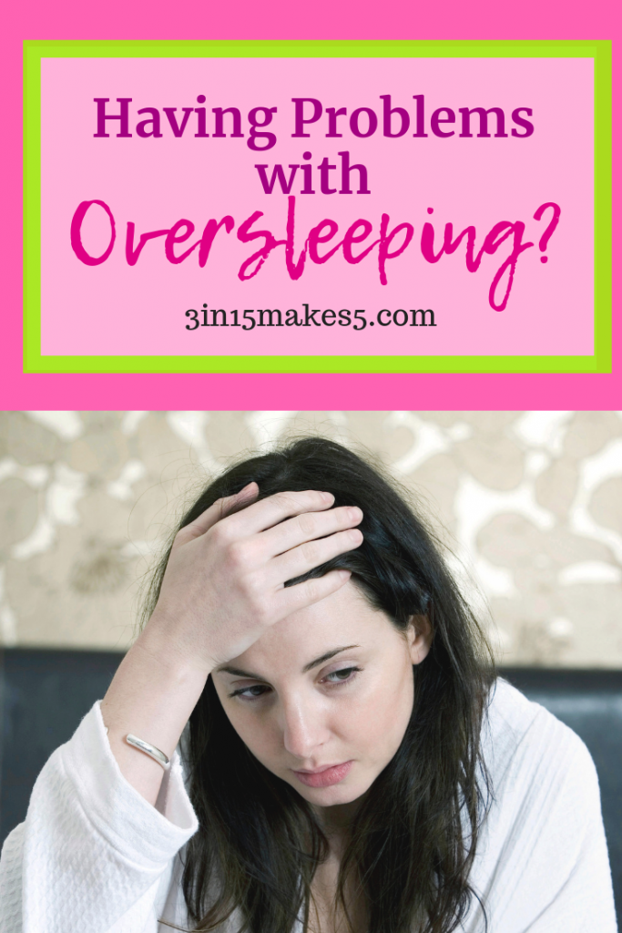 having problems with oversleeping pinterest image