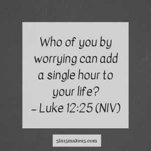 verse for worry and anxiety