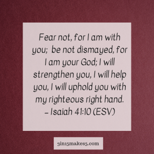 verse for anxiety - Isaiah 41:10
