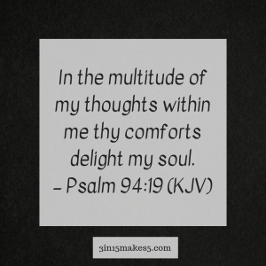 verse for anxiety - Psalm 94:19